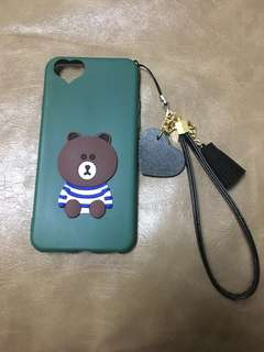 iPhone 6/6S Case line friends 布朗熊 brown 手機保護殻 綠色