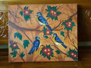 Lukisan 3 burung