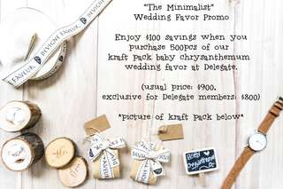 The Minimalist Wedding Favor (for 500pcs and above)