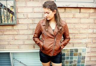 Faux forever 21 leather jacket