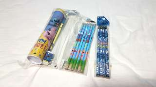 Disney Stitch Stationary Set Eraser Pencil Box