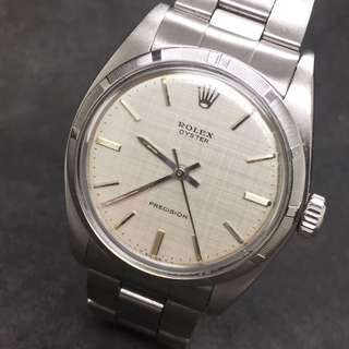 Rolex 布紋面 6427 Linen Dial Oyster Precision 34mm
