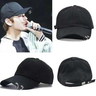 KPOP BTS LIVE THE WINGS TOUR black cap, bangtan boys ring cap, unisex caps (READY STOCK)