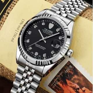 TEVISE Men Brand Watch Fashion Luxury Wristwatch Waterproof Semi-automatic Mechanical Watch