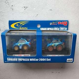 Choro-Q Subaru WRC 2004 set (Muddy Finish)