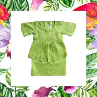 Baby Girl Linen Kurung For Raya