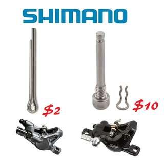 Shimano Brake Pad Axle and Snap Ring, Pad Holder Pin / Screw--------- (XTR M9020 XT M8020 M8000 M785 SLX M7000 M675 M315 MT2 MT4 MT5 MT5E MT6 MT7 MT8 Trail) Dyu