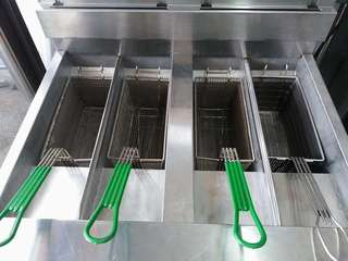 frymaster digital commercial deep fryer 4 tub