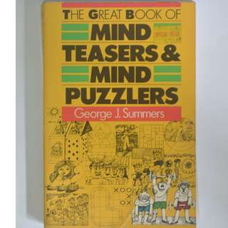 MIND TEASERS & PUZZLERS - Great For Adults & Kids (Comes With Solutions)