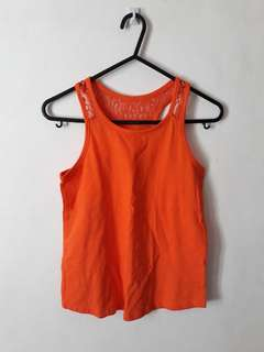 Kids orange sleeveless top