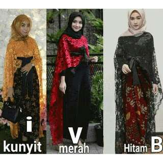 Brukat cape outer (mustard only)