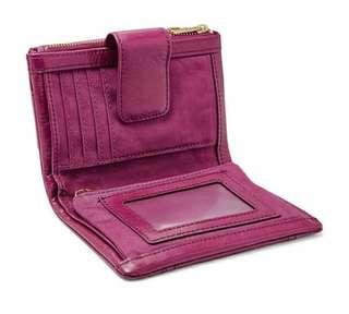 Fossil Ellis Wallet Hot Pink NWT
