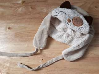 Kids Cat hat with side flaps