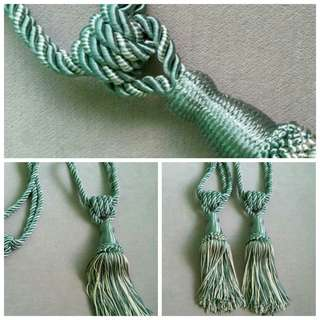 Green Curtain Tie Tassle