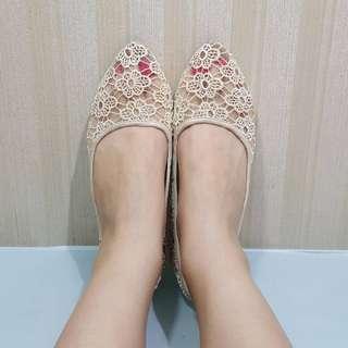 Brocade Flat Shoes