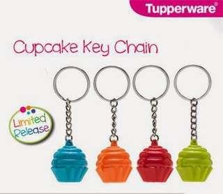 Tupperware Cupcakes Keychain