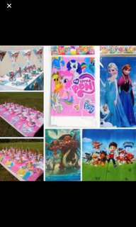 Party table cloth frozen/Peppa Pig/Paw Patrol/Moana/my Little Pony Brand New