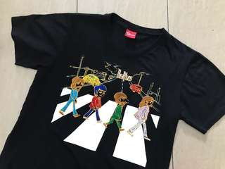 Beatles embroidered T-shirt unisex (M)