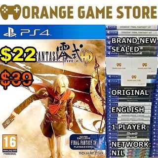 PS4 Final Fantasy Type 0 HD