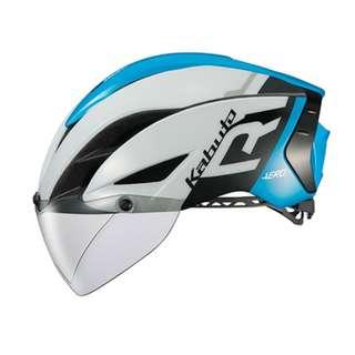 OGK Kabuto Aero R1 Helmet - Gloss White / Blue