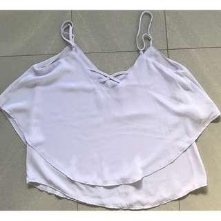 Cotton On Woman's Pale Purple Top Size 8 - Excellent Condition