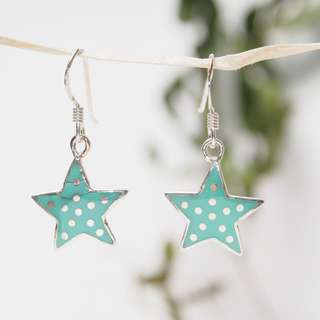 純銀耳環 Star silver earrings