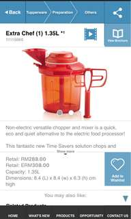 Tupperware Extra Chef 1.35L