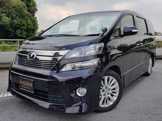 Toyota Vellfire 2013 7 Seater For Lease.