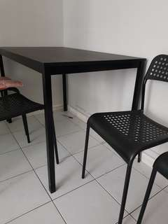 Black 4 seater dining table