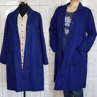 Royal Blue Trench Coat