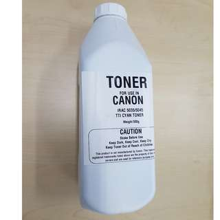 Compatible Bottle Cyan Toner for use in  Canon Copier / Printer ImageRunner Advance Colour Series