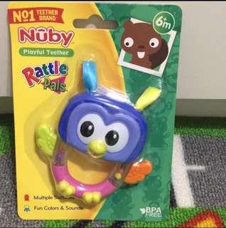 🚚 Nuby固齒玩具-貓頭鷹
