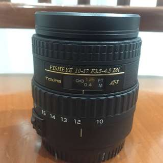 Wide angle lens Tokina 10-17mm for canon