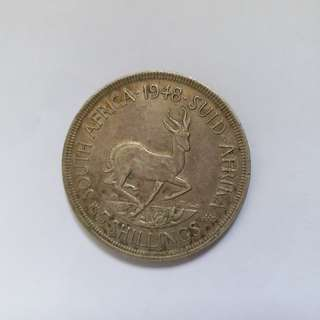【錢幣收藏】South Africa George VI 5 shillings coin 1948 (Crown)