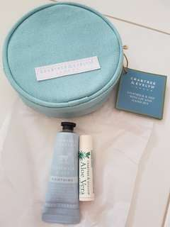 Crabtree & Evelyn goat milk and oat mini lip and oat set