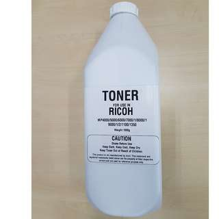 Compatible Bottle Black Toner for use in Ricoh Copier / Printer Aficio Series