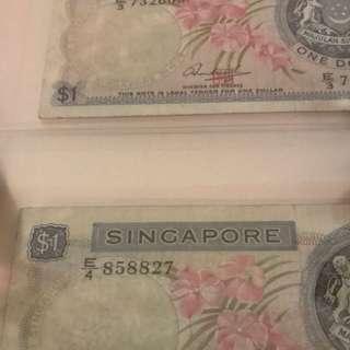 Singapore $1 Orchid Error