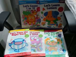 Gakken preschool workbooks