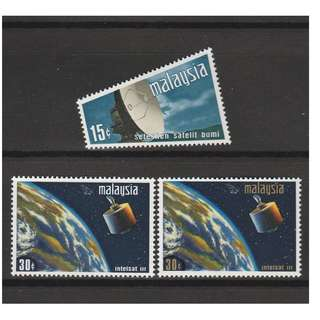 MALAYSIA 1970 Satelite Earth Station set of 3V MNH SG#61-63