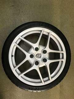 """19"""" 5x130 porsche 911 originalwheel with 2353519 3053919 super sport tyre $2600"""
