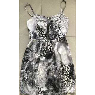 Lovely Girl Woman's Grey Printed Dress Size S - Brand New