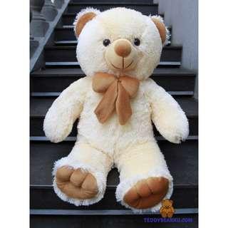 BONEKA TEDDY BEAR CREAM XL 75CM KHAS BANDUNG