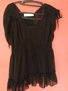 Transparan black top (sale)