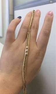 喜平六面K18钻石💠手链