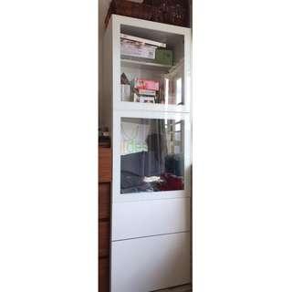 Ikea BESTÅ玻璃貯物櫃, 飾櫃,