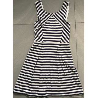 Forever New Woman's Dress White With Stripes Size 4 - Excellent Condition