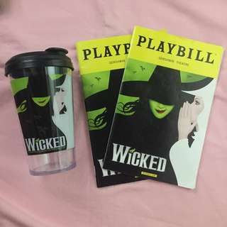 Wicked Playbills and Tumbler Bundle (From New York)