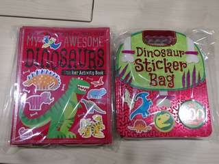Dinosaurs Sticker activity fun book