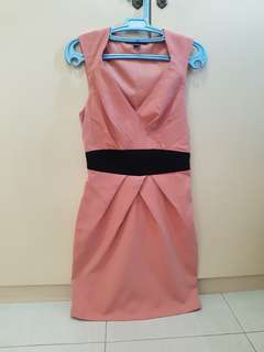 Forever 21 salmon pink formal dress