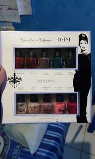 OPI Breakfast At Tiffany's Set 10 Colours